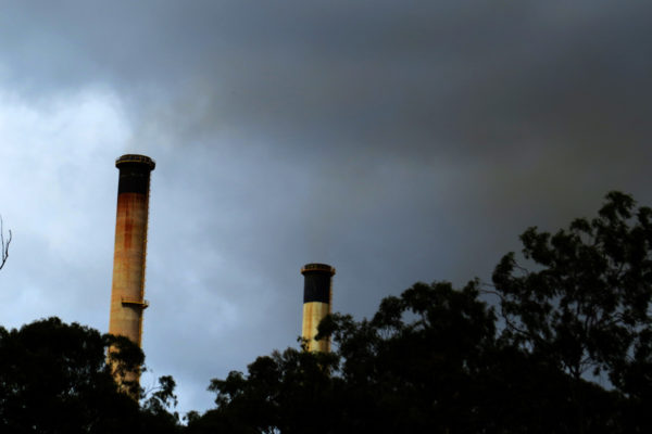 Sulphur dioxide visible from the Gladstone Power Station